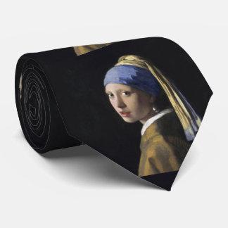 Chica con un pendiente de la perla de Juan Vermeer Corbata Personalizada