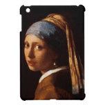 Chica con un pendiente de la perla de Juan Vermeer iPad Mini Funda