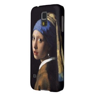 Chica con un pendiente de la perla de Juan Vermeer Fundas Para Galaxy S5