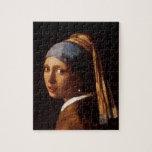 Chica con un pendiente de la perla de Juan Vermeer Puzzle