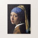Chica con un pendiente de la perla de Juan Vermeer Puzzle Con Fotos