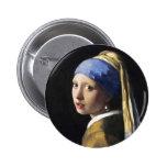 Chica con un pendiente de la perla, enero Vermeer Pins