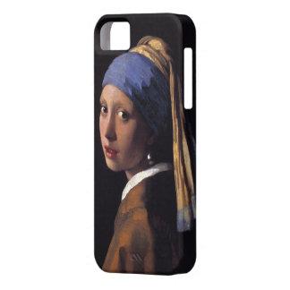 Chica con un pendiente de la perla iPhone 5 Case-Mate coberturas