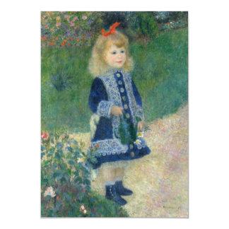 Chica con una regadera de Pierre-Auguste Renoir Invitación 12,7 X 17,8 Cm