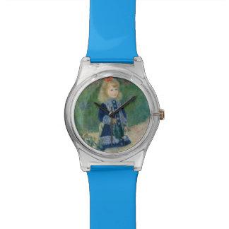 Chica con una regadera de Pierre-Auguste Renoir Reloj