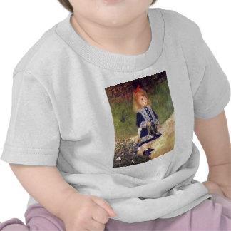 Chica con una regadera camisetas