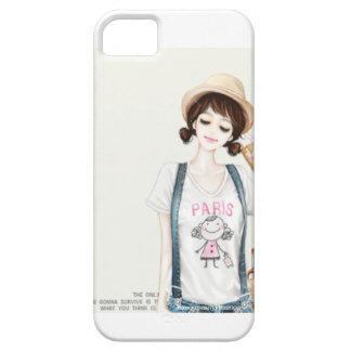 Chica coreano del estilo funda para iPhone 5 barely there