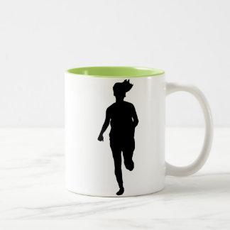 Chica corriente fresco taza de dos tonos