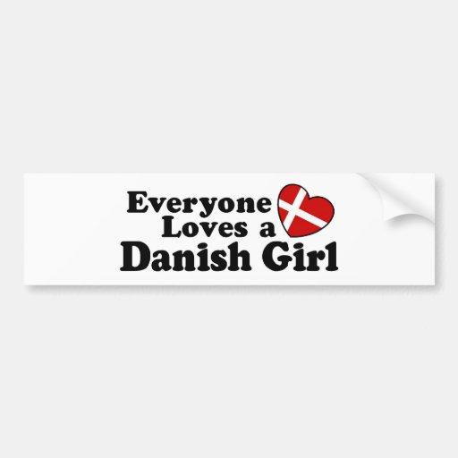 Chica danés pegatina de parachoque