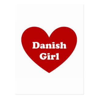 Chica danés postales