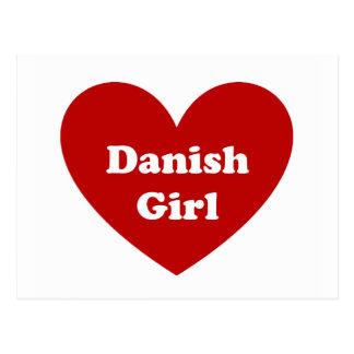 Chica danés tarjeta postal