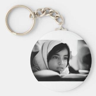Chica de Afganistán Llavero Redondo Tipo Pin