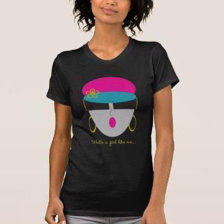 Chica de AnabelNY como mí camiseta negra Polera