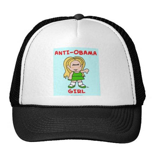 Chica de Anti-Obama Gorra