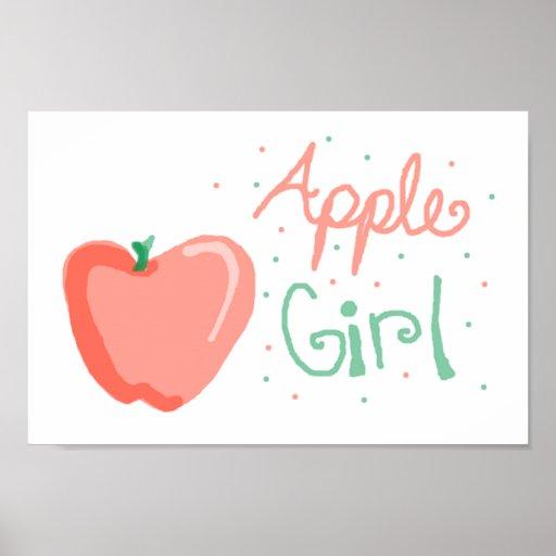 Chica de Apple Posters