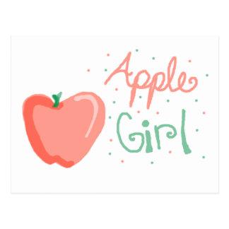 Chica de Apple Tarjetas Postales