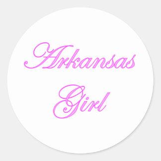 Chica de Arkansas Pegatina Redonda