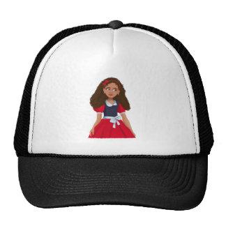 Chica de Ashley con el gorra texturizado del