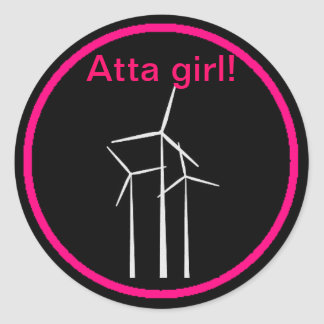 ¡Chica de Atta! Pegatina Redonda