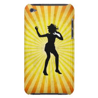 Chica de baile; amarillo iPod touch funda