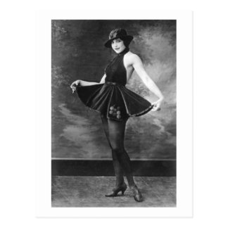 Chica de baile bonito, los años 10 postales