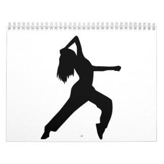 Chica de baile del estilo libre calendario de pared