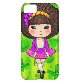 Chica de baile irlandés en el vestido violeta funda para iPhone 5C