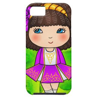 Chica de baile irlandés en el vestido violeta iPhone 5 fundas
