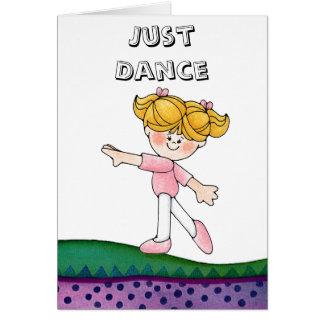 Chica de baile tarjeta de felicitación