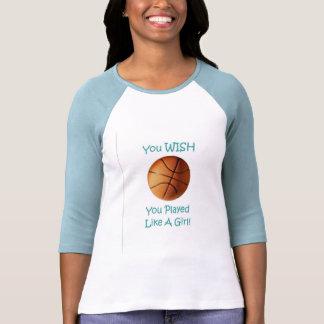 Chica de Baskeball Camisetas