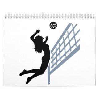 Chica de Beachvolleyball Calendarios
