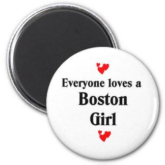 Chica de Boston Imán Redondo 5 Cm