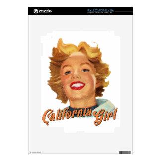 Chica de California Calcomanías Para El iPad 2
