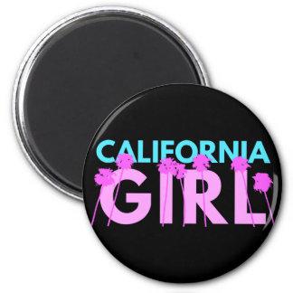 Chica de California Imán Redondo 5 Cm