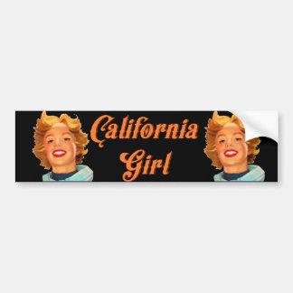 Chica de California Pegatina Para Auto