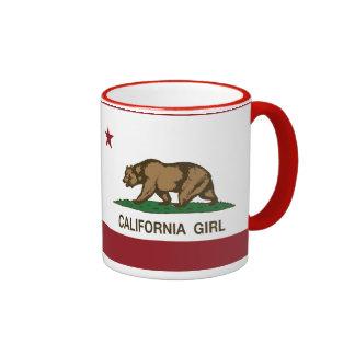 Chica de California Taza De Dos Colores