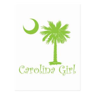 Chica de Carolina de la verde lima Postales