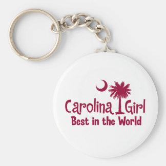 Chica de Carolina del granate mejor del mundo Llavero Personalizado