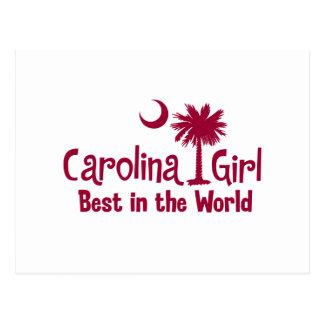 Chica de Carolina del granate mejor del mundo Tarjetas Postales