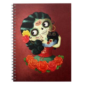 Chica de Catrina del mexicano de Dia de Los Cuadernos