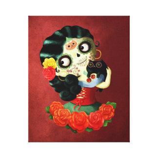 Chica de Catrina del mexicano de Dia de Los Lona Estirada Galerías
