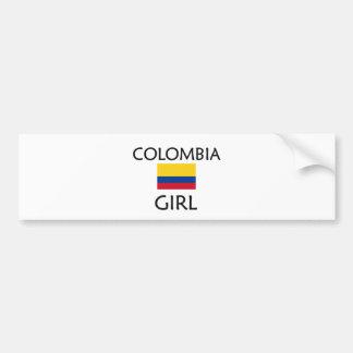 CHICA DE COLOMBIA PEGATINA PARA AUTO