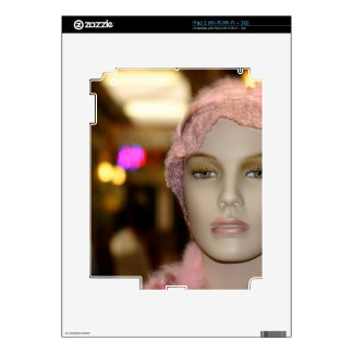 Chica de compras iPad 2 calcomanía