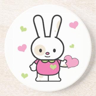 Chica de conejito de Lil Posavasos Personalizados