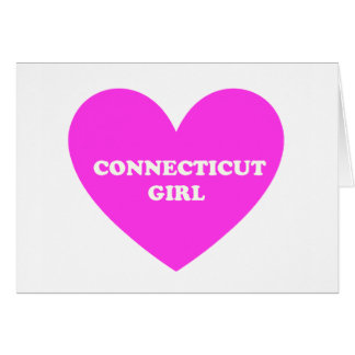 Chica de Connecticut Tarjeta De Felicitación