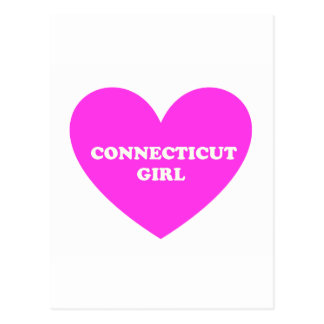 Chica de Connecticut Tarjeta Postal