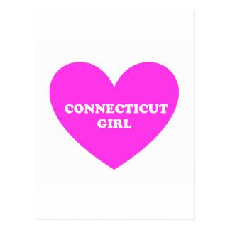 Chica de Connecticut Tarjetas Postales