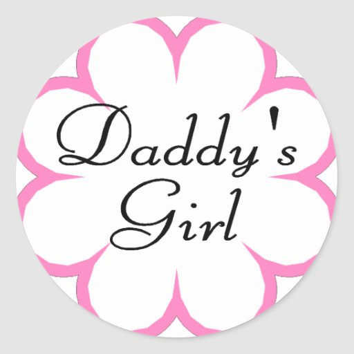 Chica de Daddys Pegatina Redonda
