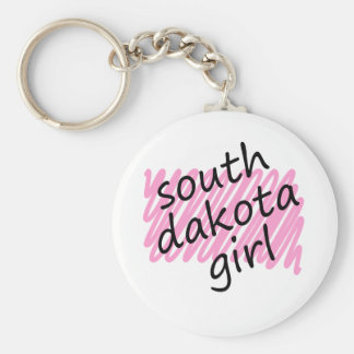 Chica de Dakota del Sur con el mapa garabateado de Llaveros