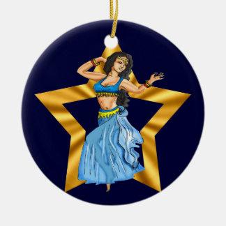 Chica de danza del vientre de la estrella ornamentos de reyes magos